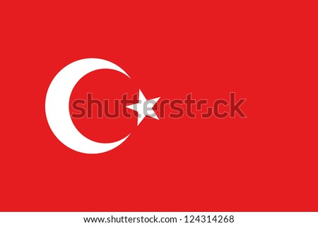 An illustration of the flag of Turkey