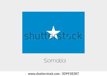 An Illustration of the flag, with name, of the country of Somalia #309938387