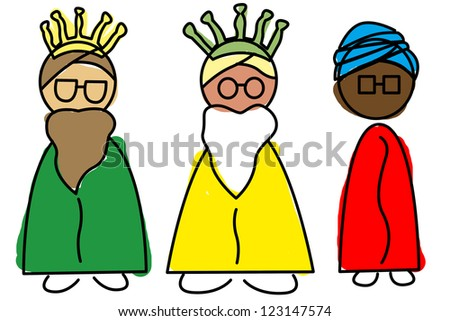 an illustration of the Three Wise Men