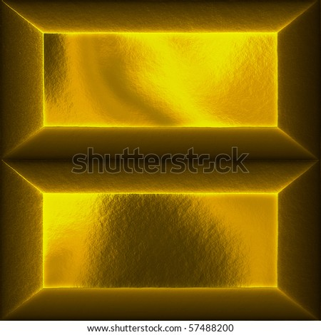 An illustration of two gold bars