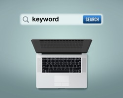 An illustrative design for searching the meaning of 'Keyword'.
