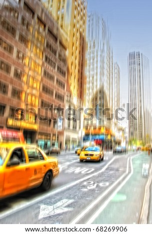 An illustrative image of life at Manhattan, New York