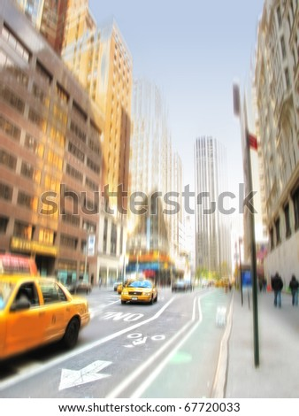 An illustrative image of steet life at Manhattan, New York