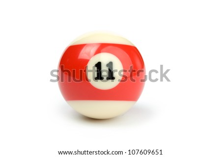 An image of a ball for billiard on white background