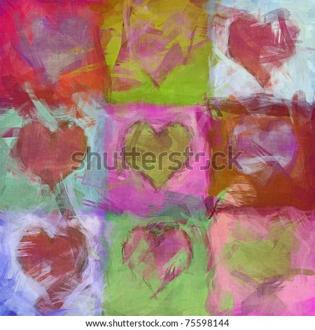 An image of a beautiful heart background