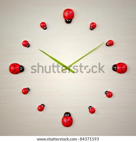 An image of a beautiful ladybird clock