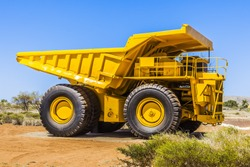 An image of a big yellow transporter