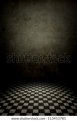 An image of a black and white tiles cellar background