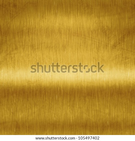 An image of a brushed metal gold plate background