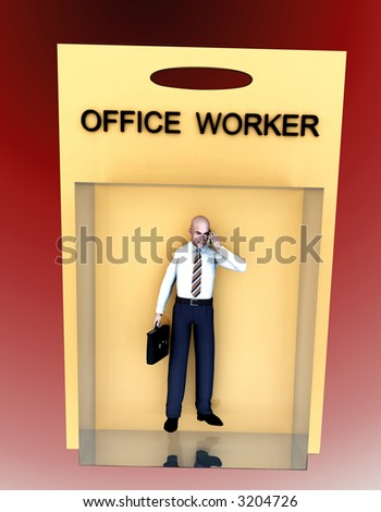 An image of a business man in toy form.