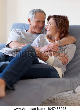 An image of a couple relaxing #1047458293