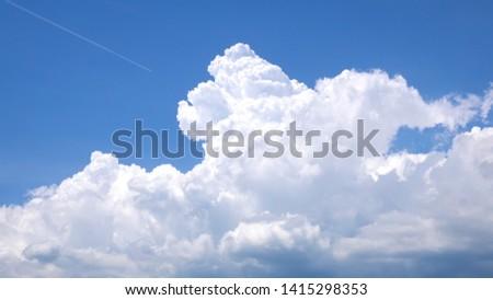 An image of a Cumulus congestus pileus cloud background #1415298353