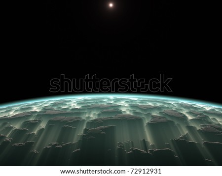 An image of a deep space planet background
