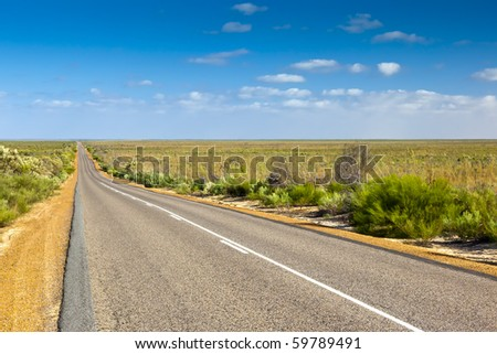 An image of a desert road in Australia