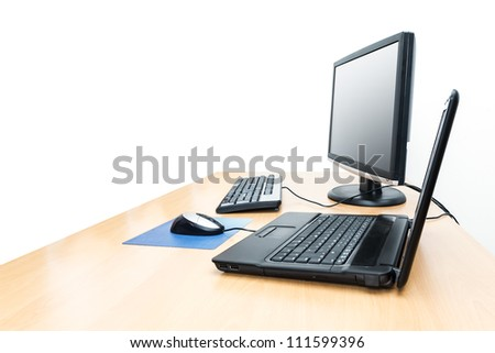 An image of a desktop with notebook background