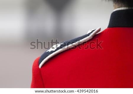 An image of a detail of the London guards uniform