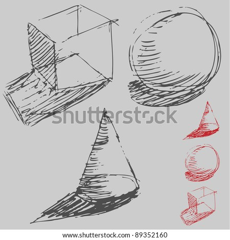 An image of a drawing of geometric shapes.