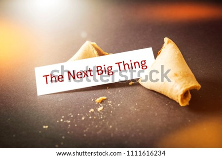 An image of a fortune cookie with message the next big thing
