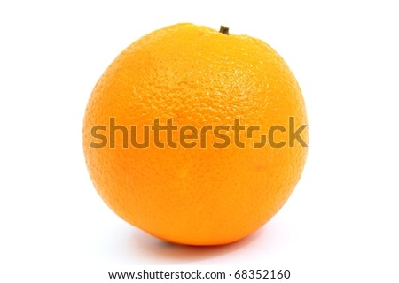 An image of a fresh orange on white background