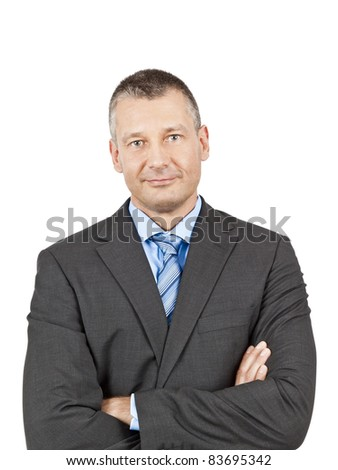 An image of a handsome business man