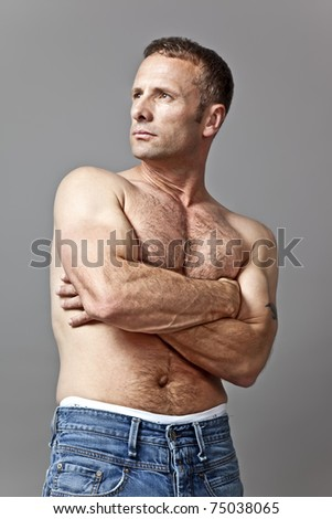 An image of a handsome muscle man