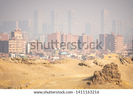 An image of a hazey scenery at Cairo Egypt