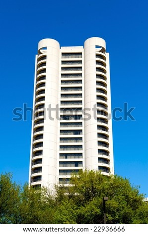 An image of a high rise condominium building