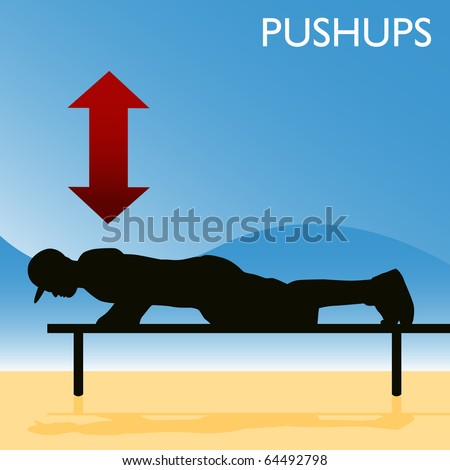 An image of a man doing push ups.