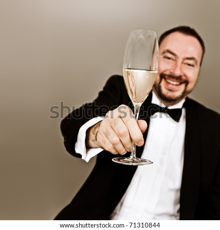 An image of a man with a glass