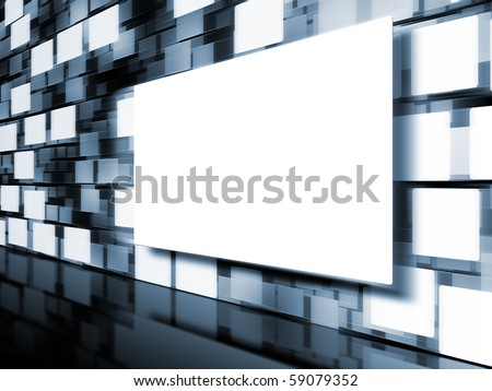 An image of a moving picture wall