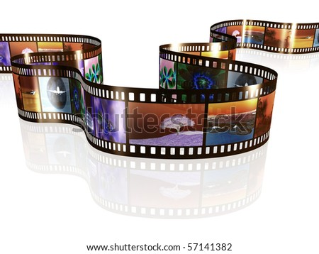 An image of a negative film strip with nice pictures