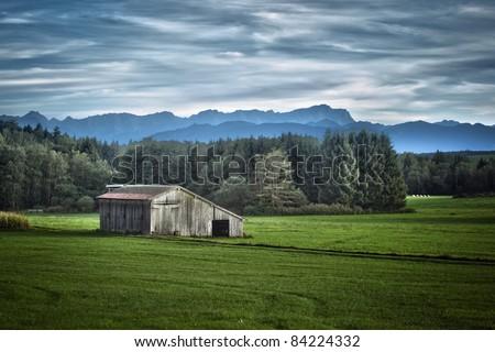 An image of a nice bavarian landscape HDRI