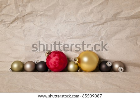 An image of a nice christmas balls background