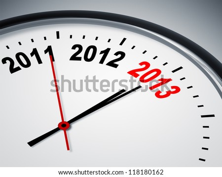 An image of a nice clock with 2011 2012 2013