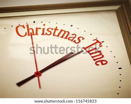 An image of a nice clock with Christmas Time