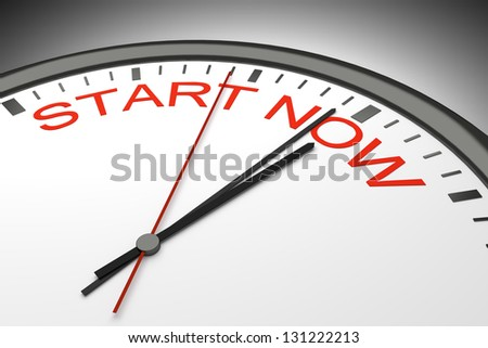 An image of a nice clock with start now