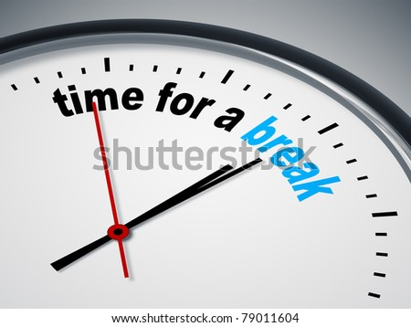 An image of a nice clock with time for a break