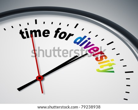 An image of a nice clock with time for diversity