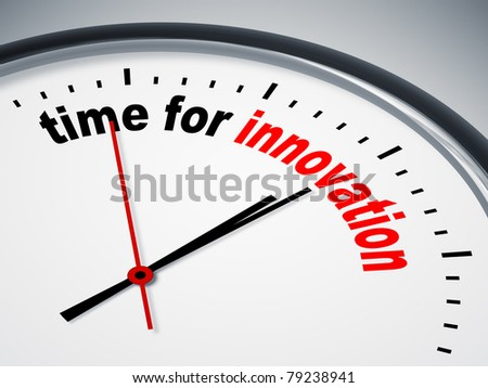 An image of a nice clock with time for innovation
