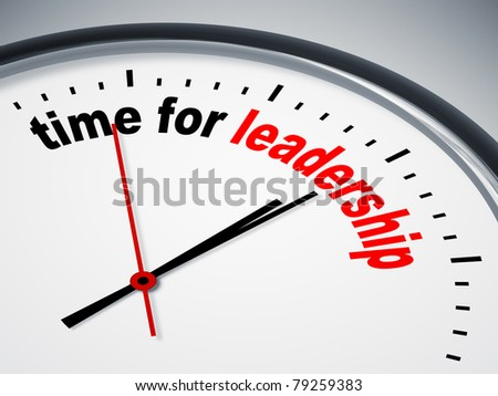 An image of a nice clock with time for leadership