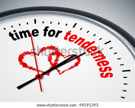 An image of a nice clock with time for tenderness