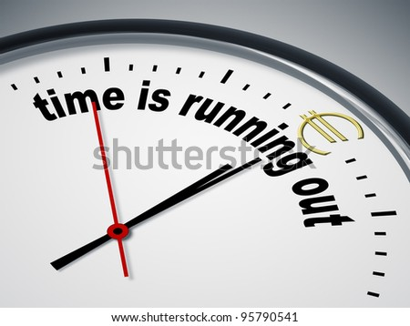 An image of a nice clock with time is running out for Euro