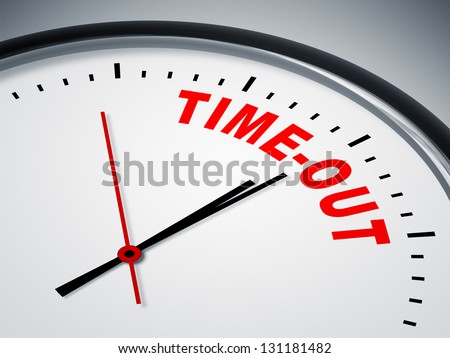 An image of a nice clock with time-out