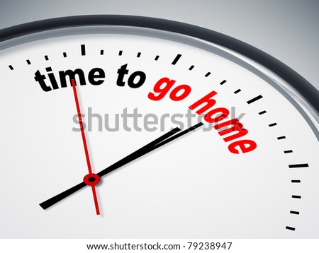 An image of a nice clock with time to go home