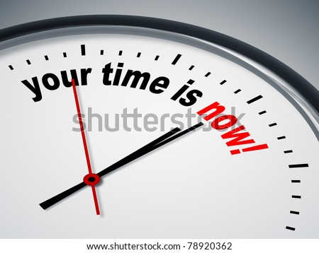 An image of a nice clock with your time is now - stock photo