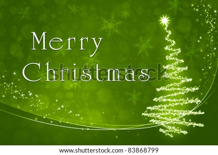 An image of a nice green merry christmas background