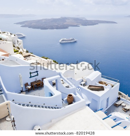 An image of a nice Santorini view