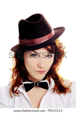An image of a nice woman in a hat
