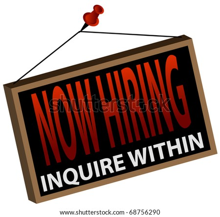 An image of a now hiring sign.