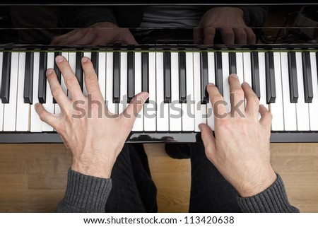 An image of a piano playing background